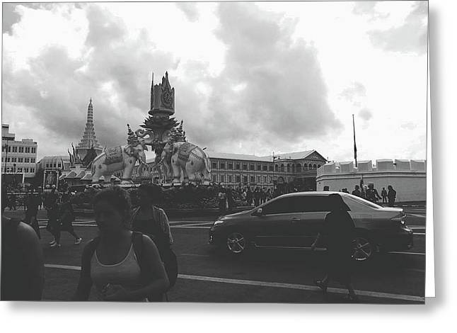Bangkok, Thailand In The Time Of Mourning Greeting Card by Sirikorn Techatraibhop