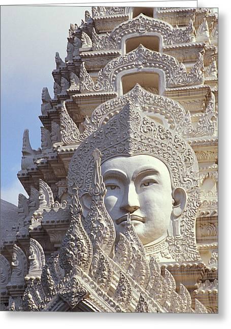 Bangkok, Wat Ratchapradt Greeting Card by Bill Brennan - Printscapes