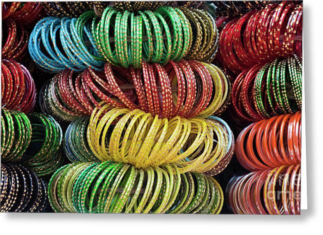 Bangles Of India Greeting Card