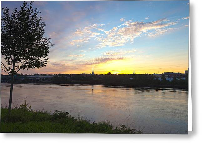 Bangor Sunset Greeting Card