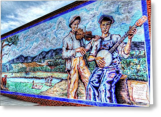 Banjo Mural Greeting Card by Dale R Carlson
