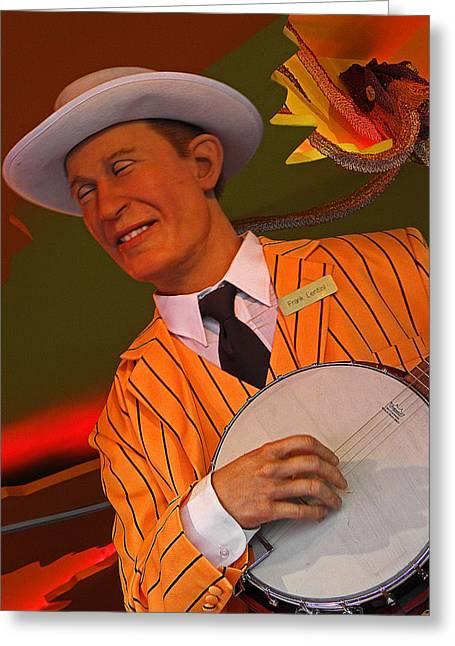 Banjo Player Greeting Card by Elizabeth Hoskinson