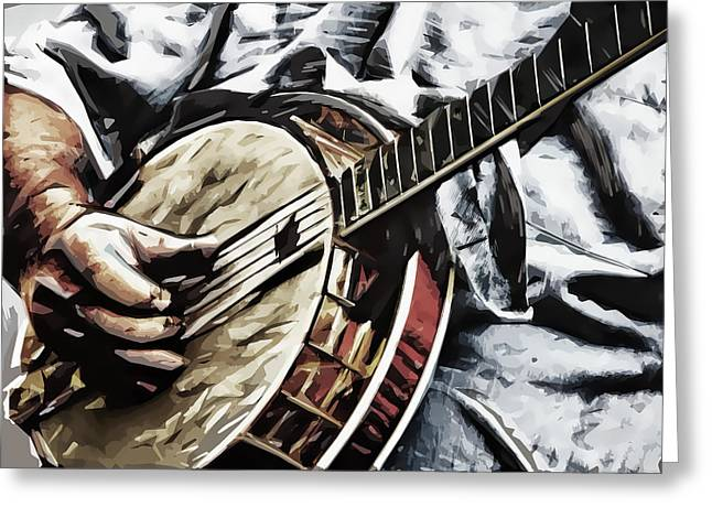 Banjoed Greeting Card by Tilly Williams