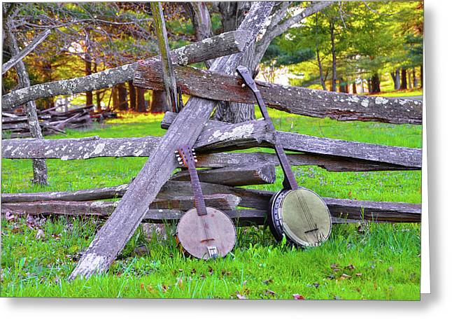 Banjos In The Wild Greeting Card