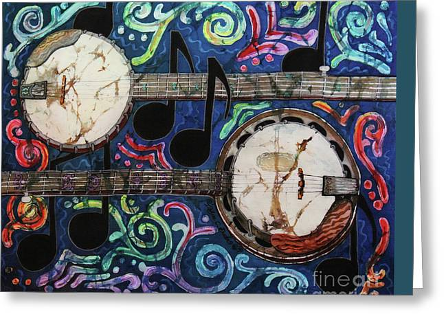 Banjos Greeting Card by Sue Duda