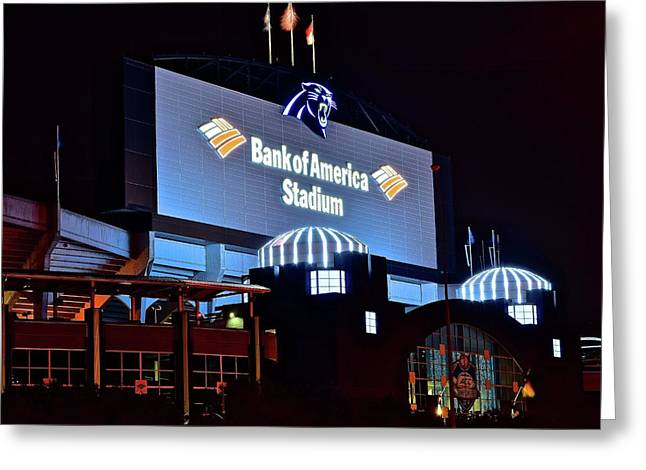 Bank Of America Stadium 2016 Greeting Card by Frozen in Time Fine Art Photography
