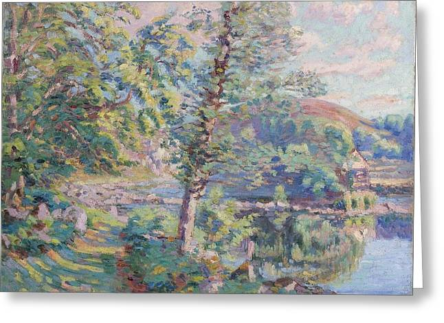 Bank Of The River Greeting Card