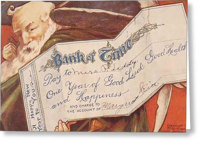 Anna Villarreal Garbis Greeting Cards - Bank of Time Greeting Card by Anna Villarreal Garbis