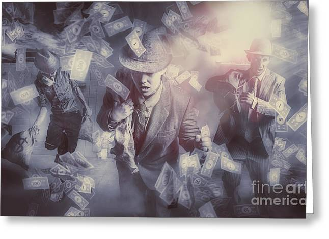 Bankers Bailout With Bail-ins Greeting Card by Jorgo Photography - Wall Art Gallery