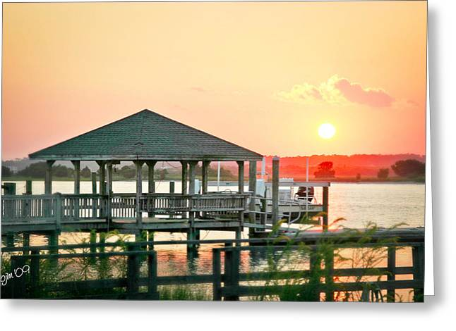 Greeting Card featuring the photograph Banks Channel Sunset by Phil Mancuso