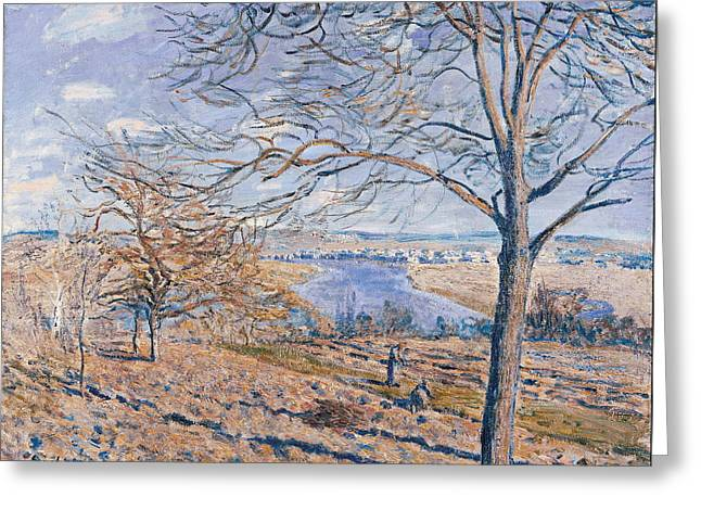Banks Of The Loing Autumn Effect Greeting Card by Alfred Sisley