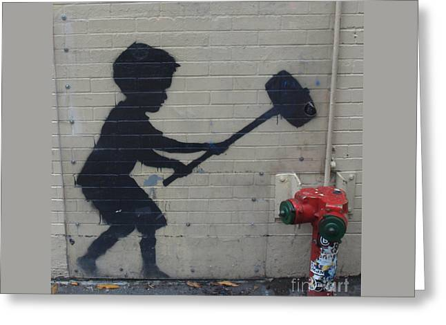 Banksy In New York Greeting Card
