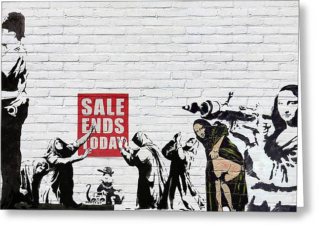 Banksy - Saints And Sinners   Greeting Card