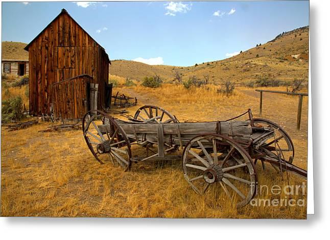 Bannack Ghost Town Wagon Greeting Card