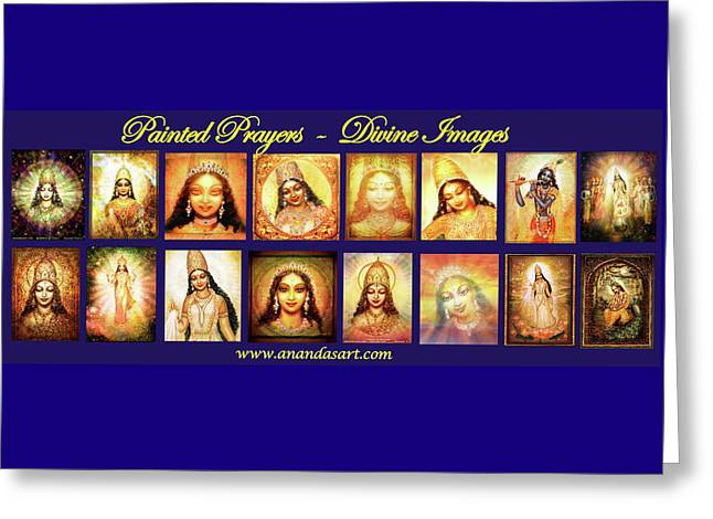 Banner Painted Prayers Greeting Card by Ananda Vdovic