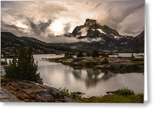 Banner Peak In A Clearing Storm Greeting Card