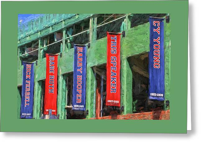 Banners Of The Stars # 1  - Fenway Park Greeting Card