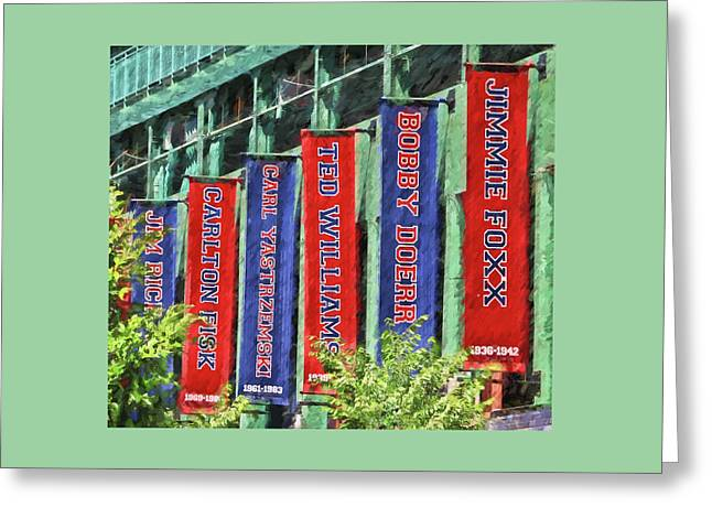 Banners Of The Stars # 2  - Fenway Park Greeting Card
