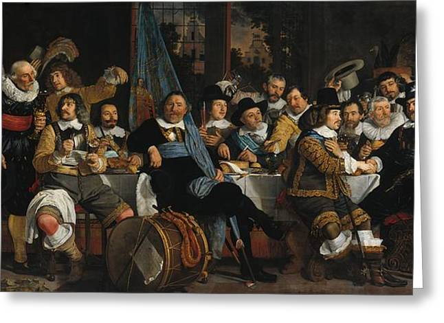 Banquet Of The Amsterdam Civic Guard In Celebration Of The Peace Of Munster Greeting Card by Mountain Dreams