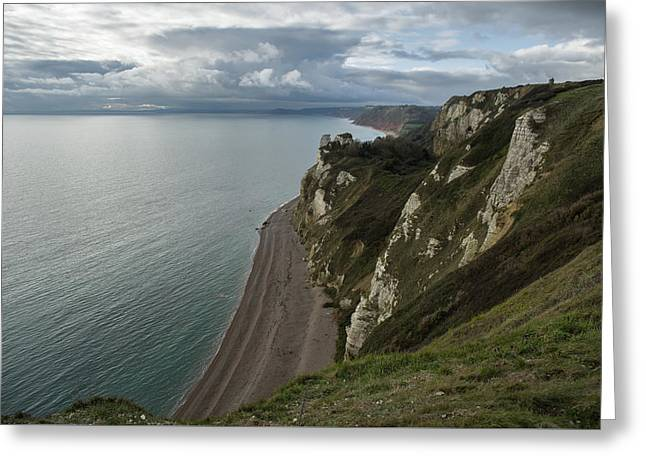 Banscombe Beach From Beer Head Greeting Card by Pete Hemington