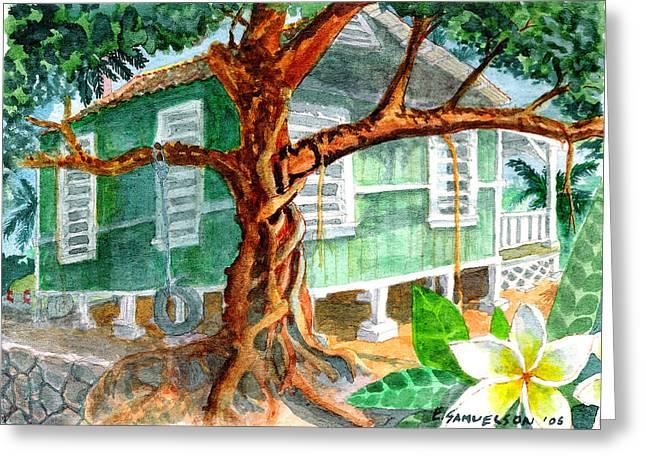 Banyan In The Backyard Greeting Card