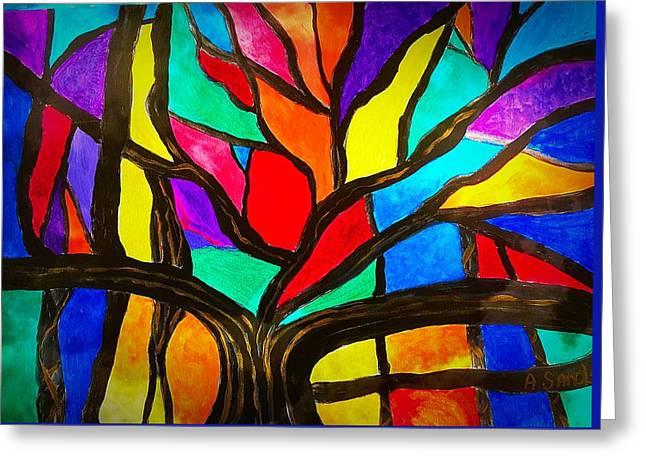 Banyan Tree Abstract Greeting Card