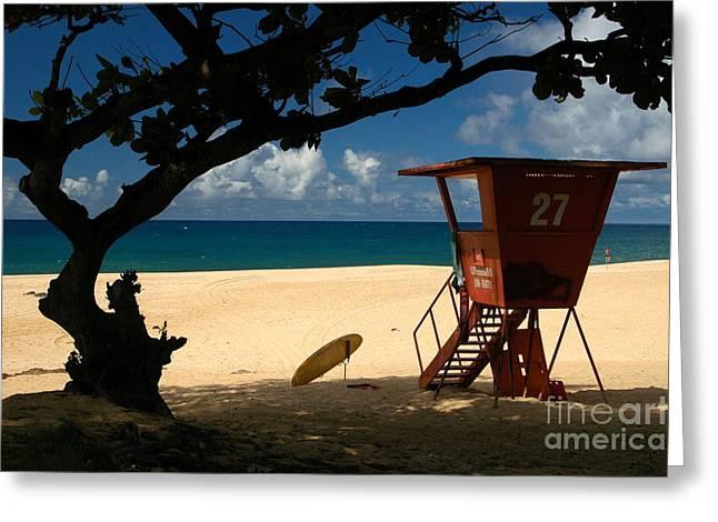 North Shore Greeting Cards - Banzai Beach Greeting Card by Mark Gilman