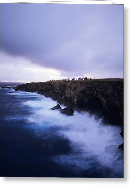 Banzai Cliff Greeting Card by Mitch Warner - Printscapes
