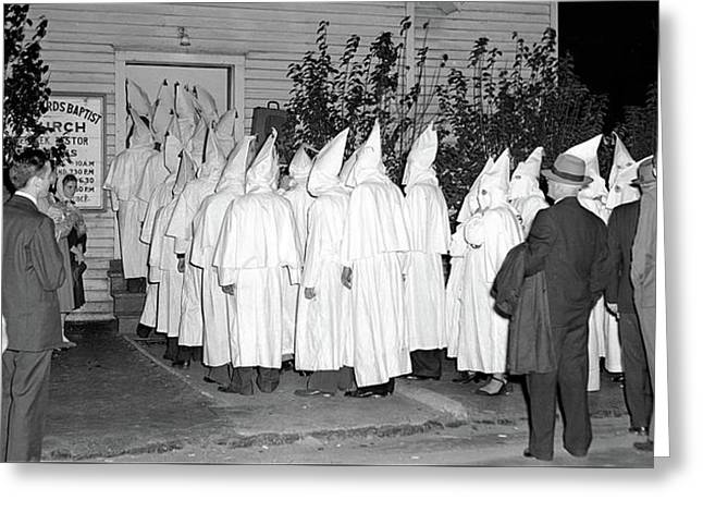 Baptist Church And Kkk Unknown Date Or Location. Greeting Card