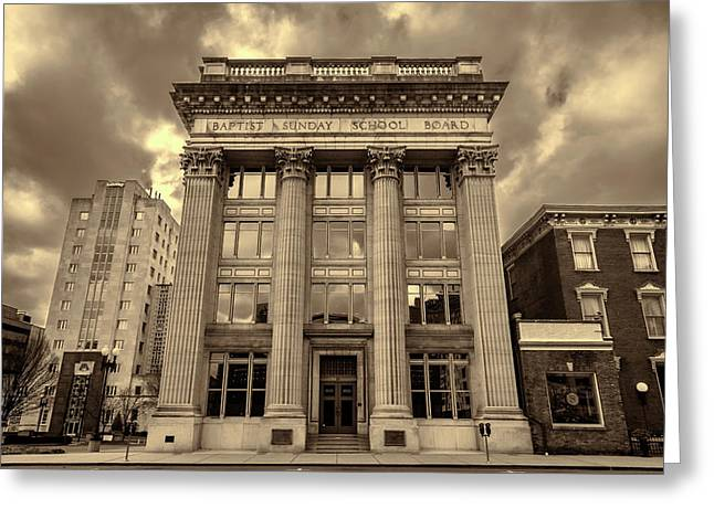 Baptist Sunday School Board - Nashville - Sepia Greeting Card