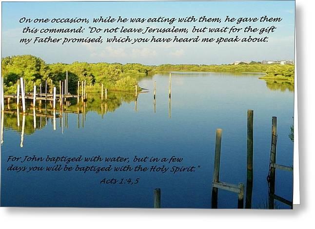 Baptized Greeting Card
