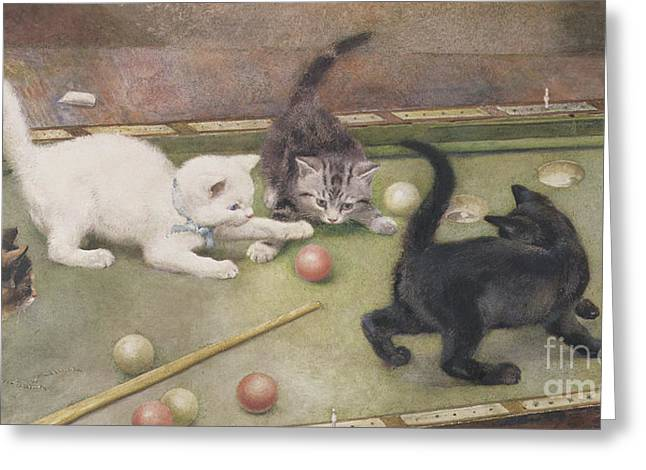 Bar Billiards Greeting Card