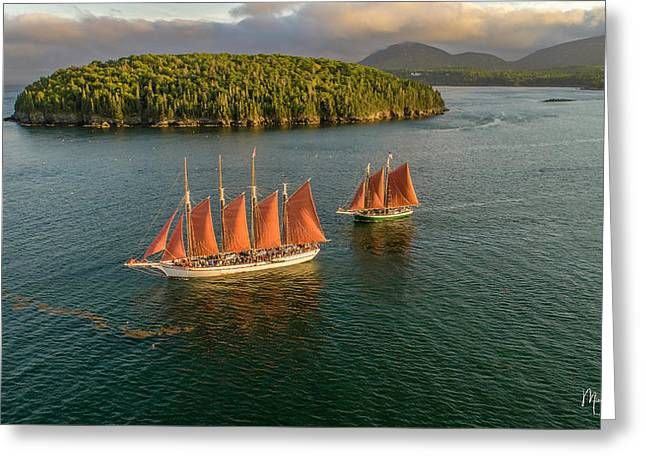 Greeting Card featuring the photograph Sailing Thru Life The Downeast Way by Michael Hughes