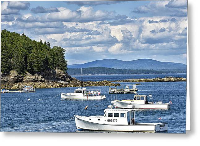 Bar Harbor Lobster Boats - Frenchman Bay Greeting Card
