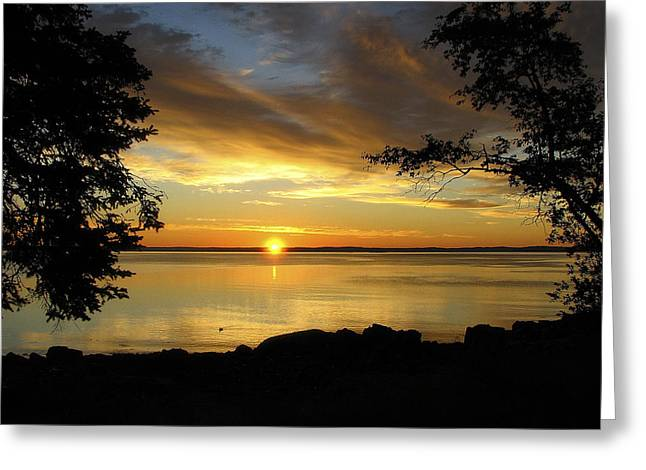Bar Harbor Sunrise 1 Greeting Card