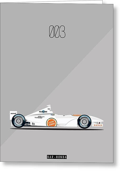 Bar Honda 003 F1 Poster Greeting Card by Beautify My Walls