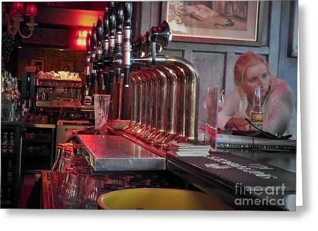 Bar Taps In Kilkenny Greeting Card
