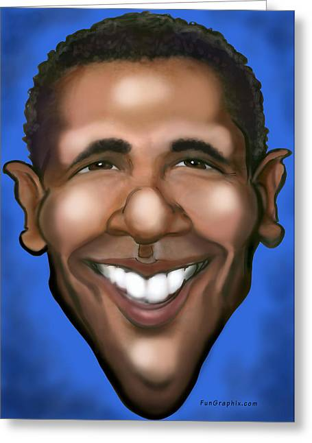 Barack Obama Greeting Card by Kevin Middleton