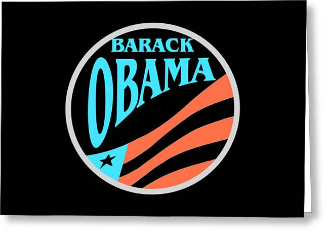Barack Obama - Tshirt Design Greeting Card by Art America Gallery Peter Potter