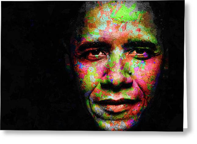 Barack Obama Greeting Card by Svelby Art