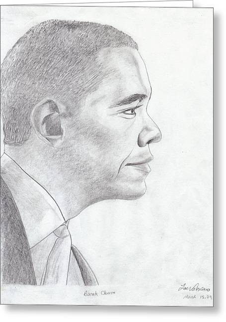 Barak Obama Greeting Card