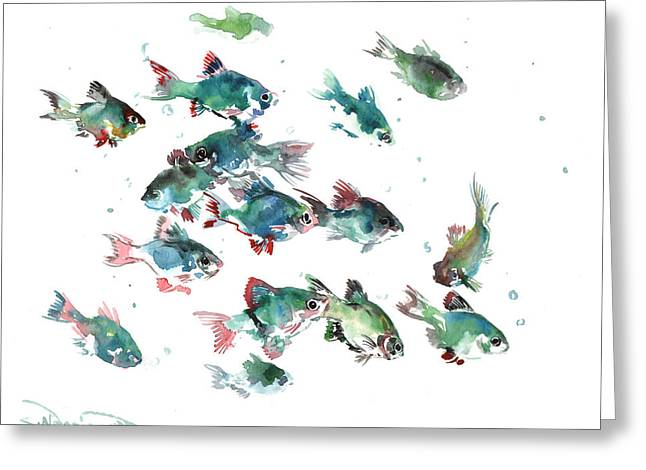 Barb Fish Greeting Card by Suren Nersisyan
