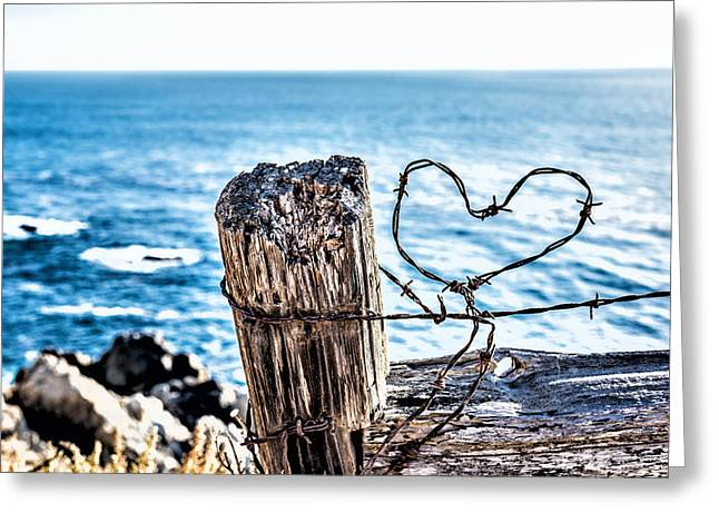 Barb Wire Heart Greeting Card
