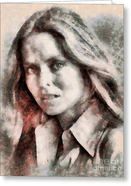 Barbara Bach, Actress Greeting Card by Sarah Kirk