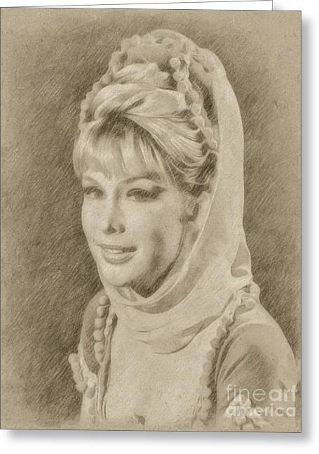 Barbara Eden, Actress, Jeannie Greeting Card