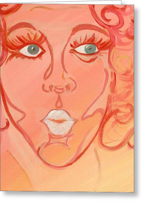 Barbara Greeting Card by Robin Antoinette Breeden