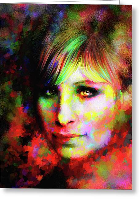 Barbara Streisand Greeting Card