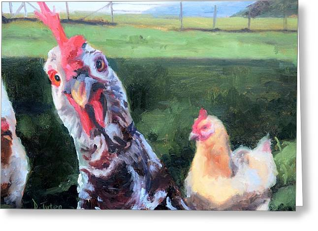 Barbara The Chicken Greeting Card