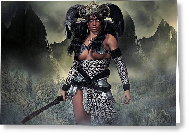 Barbarian Queen Greeting Card