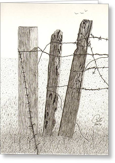 Barbed Greeting Card by Pat Price